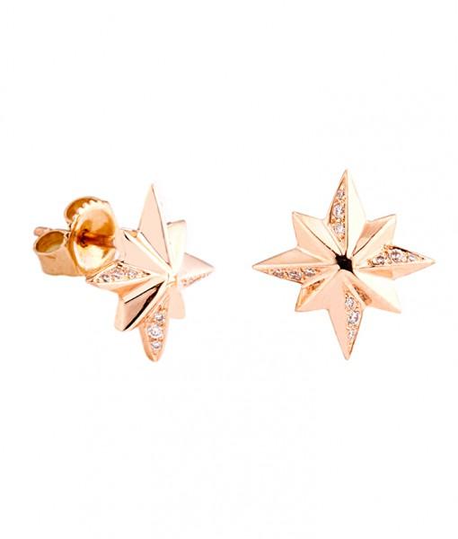 star_earring_rose_gold_diamond