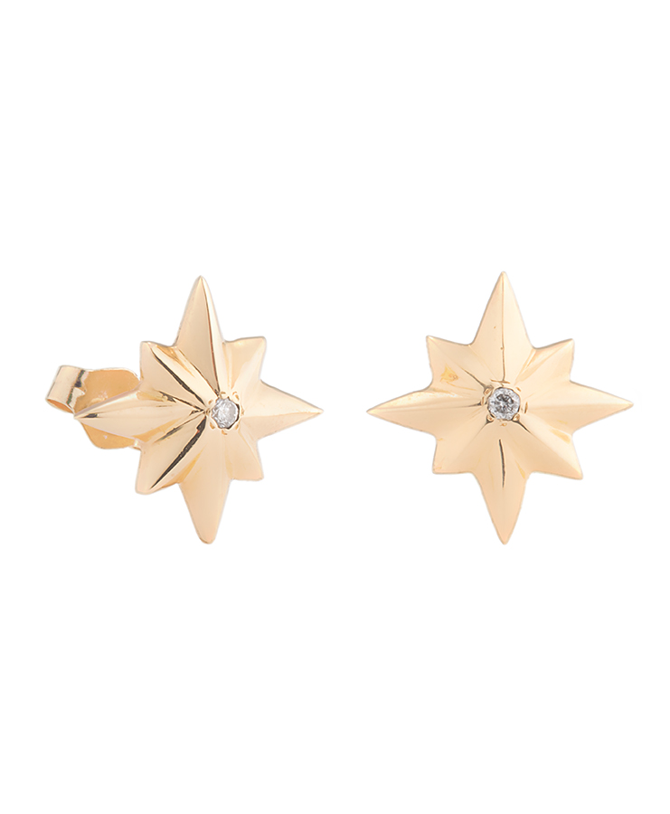 star_earring_yellow_gold_diamond